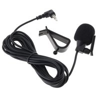 microfone externo para pc venda por atacado-PVC Wired 3,5 mm estéreo Mini Car mic microfone externo para PC do carro DVD / GPS Player / Rádio Áudio Microfone PMP_52D