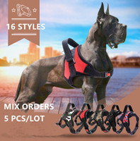 Wholesale dog safety vest medium resale online - 14 Styles Dog Pet Vest Collars Harnesses Safety Lock Buckle Adjustable Collar Padded Chest Large and Medium Pet Dog Supplies Accessories