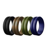 ring lovers man venda por atacado-Chanfrado Homens Cor Silicone Ring Neutral Novo Design de 7 cores de e anéis exteriores amantes anel desporto feminino
