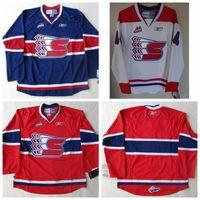 Men's Customize CHL WHL Spokane Chiefs 22 Tymow 17 Smyth Hockey Jerseys White Any Name Any Number Size S-4XL