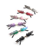 neue wellen-sonnenbrille großhandel-Feuer Flamme Sonnenbrille Frauen Männer Randlose Welle Sonnenbrille New Fashion Eyewear Luxus Trending Schmale Sonnenbrille Streetwear 6styles RRA1642