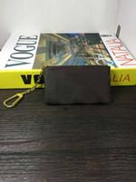ingrosso borsa da donna designer marrone-borse griffate chiave della catena progettista moneta Pounch uomo donna della borsa del portafoglio chiave portamonete marrone Borsa Fiore