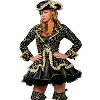 Wholesale pirate costumes women for sale – halloween Pirate Cosplay Costume Suits COS Stage Clothing Halloween Women Suit