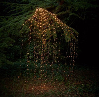Wholesale solar led icicle christmas lights resale online - Outdoor Led Solar Lights String Waterfall Fairy Icicle Lights Luces Christmas Tree Light For Holiday Party Garden Decoration