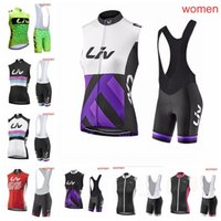 Wholesale cycle jerseys sale for sale - Group buy 2019 Summer Breathable Women Cycling Sleeveless jersey bib shorts sets Quick Dry Clothing Cycle Sportswear Hot Sale K040705