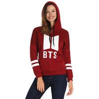 Wholesale long black arm sleeve resale online - Printed Women Hoodies Casual Thin Sweatshirts Spring Autumn Female Long Sleeved Striped Arm Hooded Tops