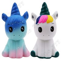 Wholesale rose toy resale online - PU Unicorn bear Animals Squishy jumbo cute Slow Rising Kawaii Squish Toy for Kids anti Stress Reliever Squeeze toy phone strap