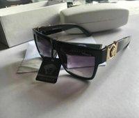 grande capa de óculos de sol venda por atacado-O envio gratuito de homens mulheres bom melhor óculos de sol para homens quadrados oversized moda óculos de sol moldura quadrada ao ar livre Com caixa e casos
