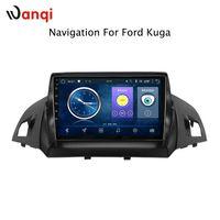araba ford radyo navigasyon toptan satış-9 inç Android 8.1 Ford kuga Için tam dokunmatik ekran araba multimedya sistemi kaçış C-max 2013-2017 gps radyo navigasyon
