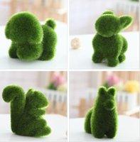 suni süs eşyaları toptan satış-GrassLand suni çim Sevimli küçük hayvan güzel ayı ekran Dekorasyon göz yorgunluğu Rahatlatmak Sahte çim mefruşat ürünleri DT001