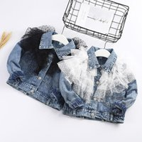 Princess Girl Clthes Lace Denim Jacket Baby Kids 2020 Spring Toddler Kids Baby Girls Long Sleeve Lace Cowboy Jacket Coat Clothes