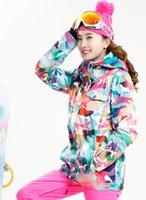 snowboard ski mulher jaqueta rosa venda por atacado-2016 mulheres rosa camuflagem ski jaqueta feminina equitação esqui jaqueta topos de alpinismo snowboard mulheres skiwear