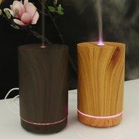getreidemaschinen großhandel-100 ml Ätherisches Öl Diffusor Bambus Luftbefeuchter Luftreiniger Ultraschall Aroma Luftbefeuchter Mit holzmaserung aromatherapie maschine GGA2181