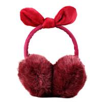 Red Flag Man Woman Pen Illustration Winter Earmuffs Ear Warmers Faux Fur Foldable Plush Outdoor Gift