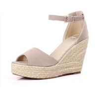 fce12d95 Nuevas sandalias de verano para mujer Zapatos de peep-toe Mujer 9CM / 11CM  Platfroms de tacón alto Cuñas casuales para mujer Tacones altos