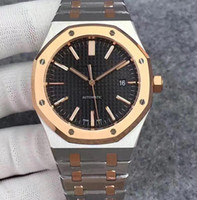 Wholesale oaks fashion for sale - Group buy 2019 Hot Sale Mens Watch Automatic Mechanical movement Blue black white dial ROYAL OAK series mens watch Stainless Steel mens watches