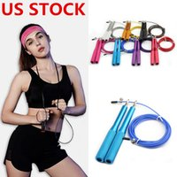 Wholesale jumping ropes for sale - Group buy US STOCK Jump Rope Crossfit Jump Rope Adjustable Jumping Rope Training Aluminum Skipping Ropes Fitness Speed Skip Training FY7051