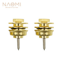 NAOMI Guitar Strap Button Lock Straplocks Guitar Acoustic Electric Bass Strap Golden Color Guitar Parts Accessories New