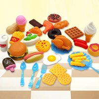 Wholesale kids pretend play toys for sale - Group buy Plastic Fast Food Playset Mini Hamburg French Fries Hot Dog Ice Cream Cola Food Toy for Children Pretend Play Gift for Kids
