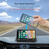 Wholesale hands free car phone holder online – 2019 Anti Slip Silicone Car Phone Dashboard Pad Mat Hands free Cell Phone Holder Desk Stand