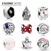 Wholesale heart bow glasses for sale - Group buy FAHMI Sterling Silver Birthday amily Fun Castle Balloon Charm Bow Teacup Tai Chi Suitcase Beaded Limited Edition