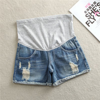 Wholesale maternity winter clothes trousers resale online - 2018 Summer Denim Maternity Shorts Belly Care Pants For Pregnant Women Cotton Jeans Clothing Pregnancy Trousers B0396MX190912