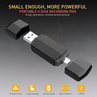 Wholesale otg plug for sale – best Portable HD Digital USB Voice Recorder GB Recording U Disk OTG Micro Usb For Android Dual Plug MP3 Recorders Business Meeting