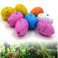 sihirli kuluçka yumurtası toptan satış-Sihirli Kuluçka Büyüyen Dinozor Su Dino Yumurta Çocuklar Kid Eğlence Komik Oyuncak Hediye Gadget Toptan büyütün ekle