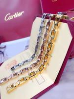 boîte chaude en acier inoxydable de marque achat en gros de-Chaude Marque De Mode Bijoux En Acier Inoxydable De Luxe En Acier Bracelets Bracelets pulseiras Bracelets En Cuir Pour Homme et Femmes avec Boîte cadeau jaos98a
