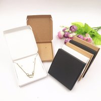 Wholesale paper jewelry set box for sale - Group buy 50set Jewelry Displays Paper Boxes For Pendant earring necklace Carrying Cases Wedding Jewelry Set Gift Packing Box cm SH190723