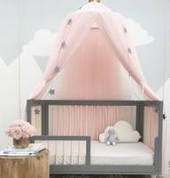 ingrosso tende per bambini-Bambino Dome Zanzariera bambini Solid Bed cortina Hanging della tenda GGA2152 Presepe bambini Room Decor rotonda Hung Dome zanzariera