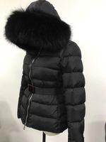 casaco de pele real venda por atacado-Venda quente Moda 95% de Pato para baixo mulheres jaqueta casaco de inverno espessamento Roupas Femininas senhoras real gola de pele de raposa capuz para baixo jaqueta