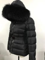 cagoule de renard achat en gros de-vente chaude mode 95% duvet de canard femmes veste manteau hiver épaississement femmes vêtements dames real renard fourrure col capuche doudoune