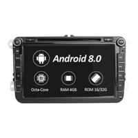 ingrosso tibetano fascino fede d'argento-Car Multimedia Player 2 Din Radio GPS Android 8.0 Autoradio per VW / Volkswagen / POLO / Golf / Skoda / Octavia / Seat / Leon DSP