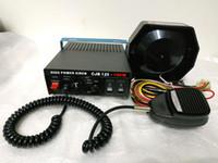 steuerschalter auto groihandel-CJB125 100W 7sounds Polizeisirene Autoalarmverstärker mit Mikrofon, 2 Lichtschalter + 100W Lautsprecher