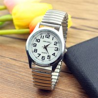 Wholesale elderly watches resale online - New Fashion old people dress watche men stainless Steel Elastic band Quartz Lovers vintage Watches Elderly Watches Reloj Hombre