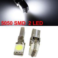 luz do painel t5 venda por atacado-T5 Wedge 2 pcs 5050 SMD canbus Levou Auto Lâmpada Automotive Led Auto Lâmpada Painel de LED Luzes de 1000 peças / lote