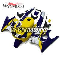 kits de carrocería para motos honda al por mayor-Kits de cuerpo azul oscuro amarillo de alta calidad para Honda CBR600F3 1995 1996 95 96 ABS plástico inyección cascos moto Carenes