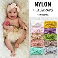 Wholesale handmade infant headbands resale online - Cute Cheap Hair bow Baby girl Headband Infant Super Soft Nylon Headwraps Handmade Knot Headbands photography Boutique Store Supplies