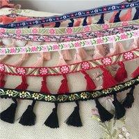 malzeme düzeltme toptan satış-Elbise Dekorasyon Lychee Yaşam Püskül Afrika Dantel Trim Ponpon Dantel Trims Dantel DIY Dikiş Malzemesi