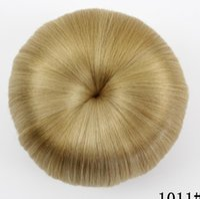 Wholesale chignon for sale - 12 New hair bag high grade silk professional hairpin bride hair fluffy short curly hair ball hairpin