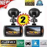 kamera görüş araçları toptan satış-Araç kayıt dashcam çift için 2x Araç 1080P 2.2 Full HD DVR Araç Kamera Dash Cam Video G-sensor Gece Görüş vidioregistrator