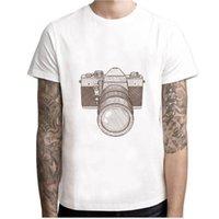 mini kamera tasarımı toptan satış-Kamera Comics tasarım t gömlek 2109 yaz Moda komik Serin Erkekler / Kadınlar t gömlek harajuku Genç Karakterler beyaz