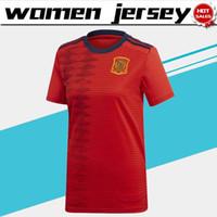 058d42353 Women Jerseys 2019 World cup Spain Home Soccer Jersey 19 20 Lady s soccer shirt  spain home red Soccer Shirt Women Football Uniform