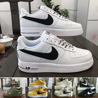Wholesale womens run shoes black resale online - off New Arrival Forces Mens Womens Skateboarding Shoes one White Black Fashion Casual Running Sports Sneakers CS5K