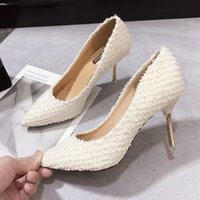 Wholesale sexy sweet wedding dresses for sale - Group buy Fashion Women Elegant Pumps High Heels Sweet Pointed Toe Female Sexy Party Dress Shoes Office Lady Wedding Party Stiletto Y21