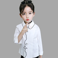 Wholesale white school girl shirt resale online - Girls White Blouse Spring Cartoon Kids Shirts For Girls Year Teenage Children School Clothing