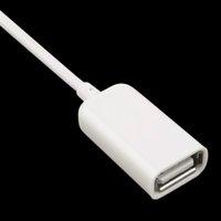 plug otg venda por atacado-Moda 3.5mm Macho AUX Áudio Plug Jack Para USB usb cabo de extensão 2.0 Cabo de Conversor Cabo de Carro MP3 OTG