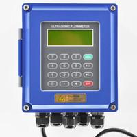 medidor de vazão ultra-sônico venda por atacado-Medidor de fluxo de líquido ultra-sônico RS485 Modbus Novo medidor de vazão digital de parede TUF-2000B DN50-700mm para controle industrial