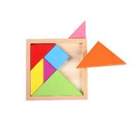 деревянные геометрические головоломки оптовых-Дети Дети 7 Шт. Геометрическая Tangram Головоломка Квадратные Игрушки GYH деревянные развивающие
